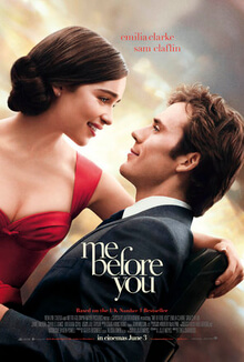 me before you,a romance movie, that was a book first
