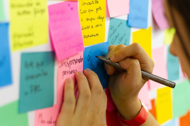sticky notes outline for your novel